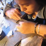 artesanas craftswoman at jewlers bench ethical fair trade jewelry